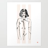 First Hello No.1 (pink) Art Print