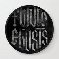 Future Ghosts Wall Clock