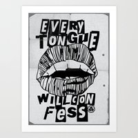 EVERY TONGUE CONFESS Art Print