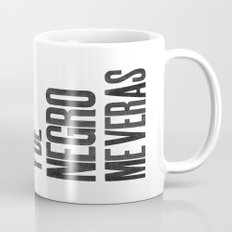 Voy de negro — Letterpress (White) Mug