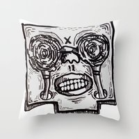 Mr. K Descend Into Hell. Throw Pillow