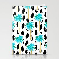 Palm Trees And Dots Stationery Cards