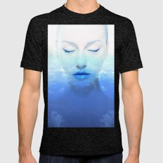 Soul in clouds Mens Fitted Tee Tri-Black SMALL