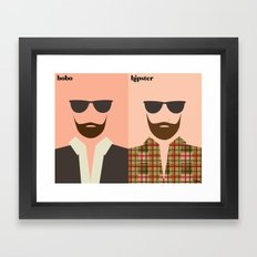 la barbe Framed Art Print