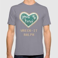 Wreck-It Ralph - Minimal… Mens Fitted Tee Slate SMALL