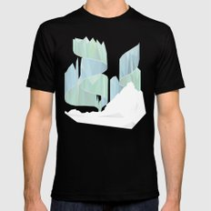aurora SMALL Mens Fitted Tee Black