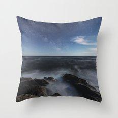 Milky Way In Moonlight Throw Pillow