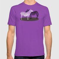 Zebra Embrace Mens Fitted Tee Ultraviolet SMALL
