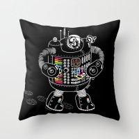 Panda Music Jaeger Throw Pillow