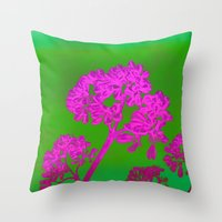 Funky Floral - JUSTART © Throw Pillow