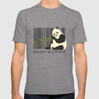 MADE IN CHINA Mens Fitted Tee Tri-Grey SMALL