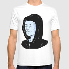 Mr Robot White Mens Fitted Tee SMALL