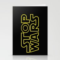 Stop Wars Stationery Cards