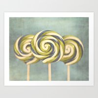 3 Popsicles Art Print