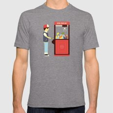 Claw Machine Mens Fitted Tee Tri-Grey SMALL
