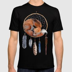 Fox Dreamcatcher SMALL Mens Fitted Tee Black