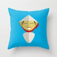 Vietnamese Doll Throw Pillow