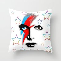 Bowie's Eyes Throw Pillow