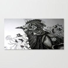 BNM // Black Naped Monarch Canvas Print