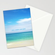 I Will Always Love Blue. Stationery Cards
