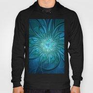 Flourish Blue, Abstract … Hoody