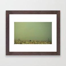 Barcelona Skyline Framed Art Print