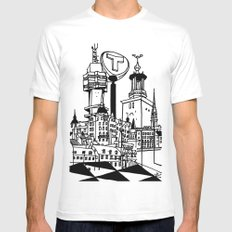 STHLM Silhouettes White SMALL Mens Fitted Tee