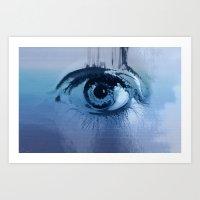 behind blue eyes Art Print