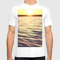 Sunset At Bodega Mens Fitted Tee White SMALL