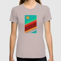 Moon Spotting Womens Fitted Tee Cinder SMALL