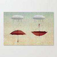 embracing the rain Canvas Print