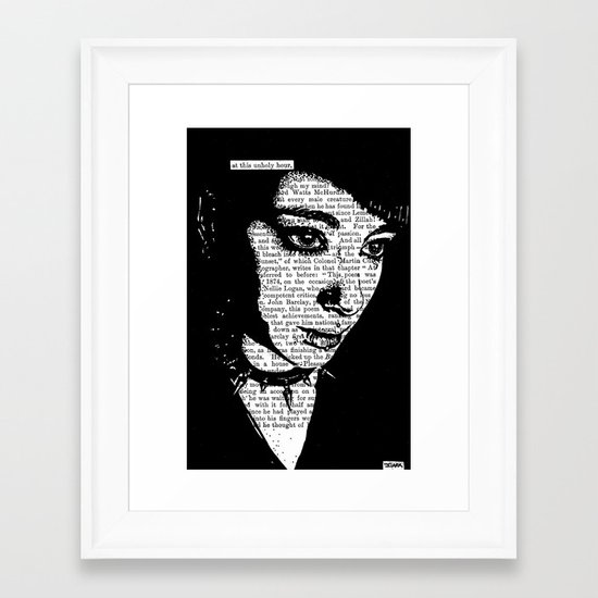 At This Unholy Hour Framed Art Print