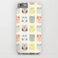 iPhone & iPod Case featuring owls pattern by flying bathtub