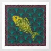 Swimming Upstream 3 Art Print
