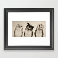 Framed Art Print featuring The Owl's 3 by Isaiah K. Stephens