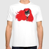 The Batwoman Mens Fitted Tee White SMALL