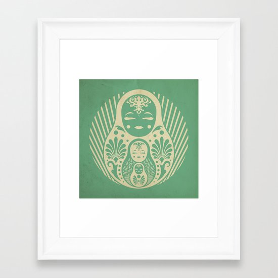 Nesting Framed Art Print