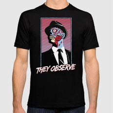 They Observe SMALL Black Mens Fitted Tee