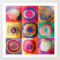 Circles Collage Art Print