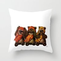 STAR WARS The Three Wise Ewoks Throw Pillow