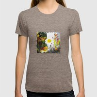 daisies Womens Fitted Tee Tri-Coffee SMALL