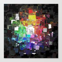 Spectral Geometric Abstract Canvas Print
