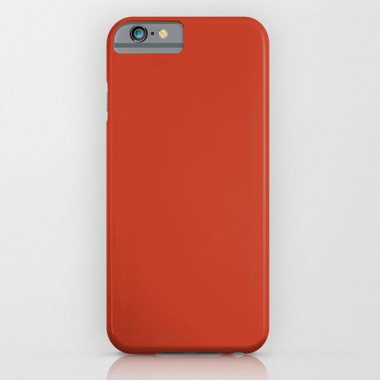 Dark pastel red iPhone & iPod Case