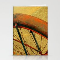 Vintage Bike Fall Home D… Stationery Cards