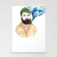 The Sailor And The Sea Stationery Cards