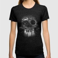Hell on Wheels Womens Fitted Tee Tri-Black SMALL