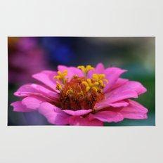 colourful macro flower Rug
