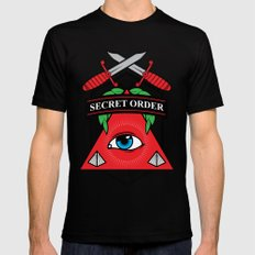 Secret Order SMALL Black Mens Fitted Tee