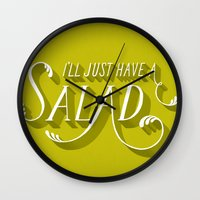 I'll Just Have a Salad Wall Clock