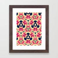 Kaleidoscope Orchids Framed Art Print